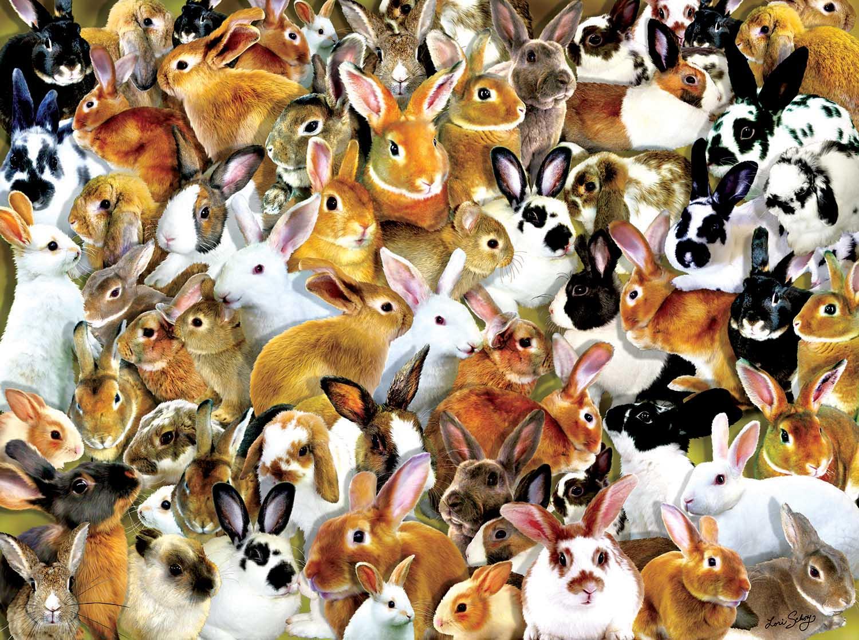 A Bundle of Bunnies Animals Jigsaw Puzzle