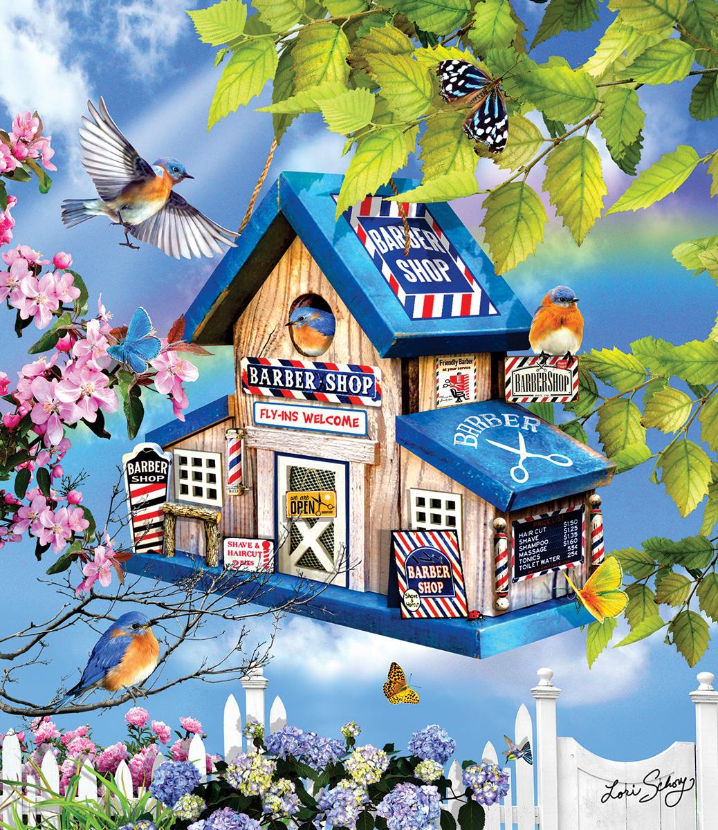 Barber Shop Birds Jigsaw Puzzle