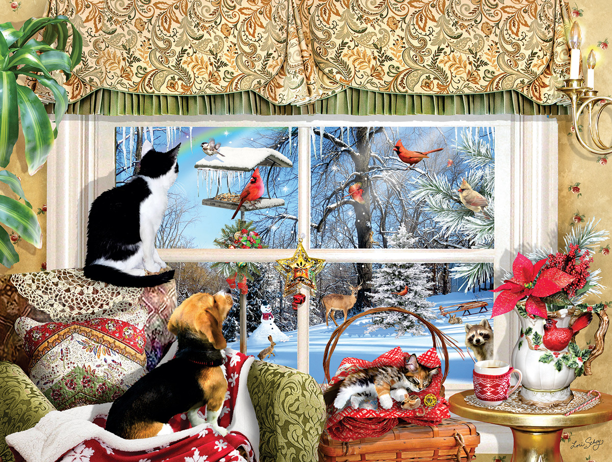 Looking Through a Window Cats Jigsaw Puzzle