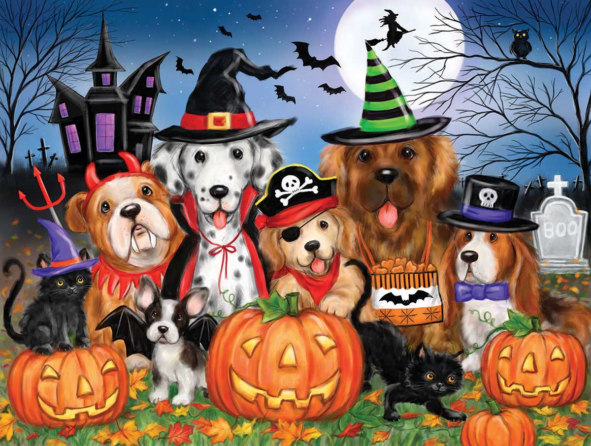 Ready for Halloween Dogs Jigsaw Puzzle
