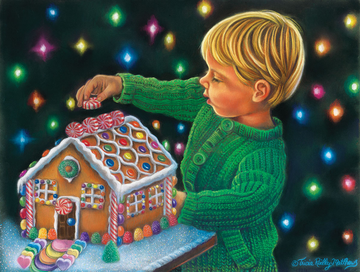 Up on the Roof Christmas Jigsaw Puzzle