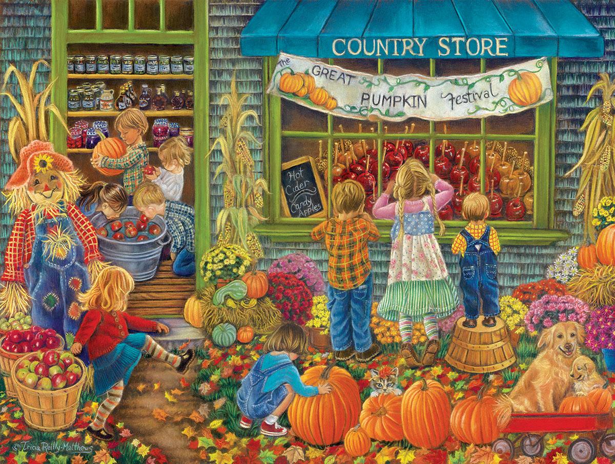 Great Pumpkin Festival Fall Jigsaw Puzzle