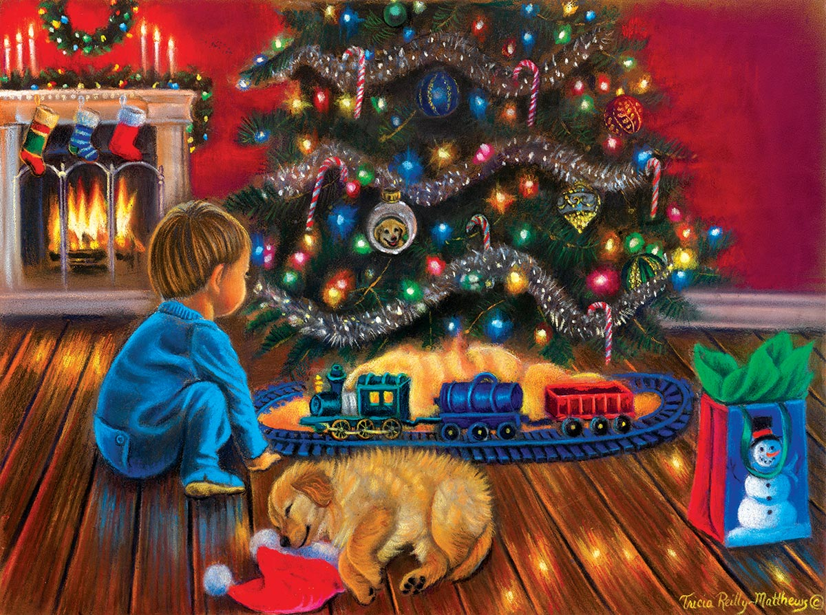 Under the Tree Christmas Jigsaw Puzzle