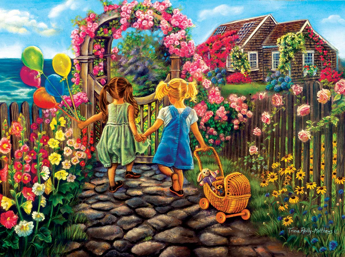 Forever Friends Flowers Jigsaw Puzzle