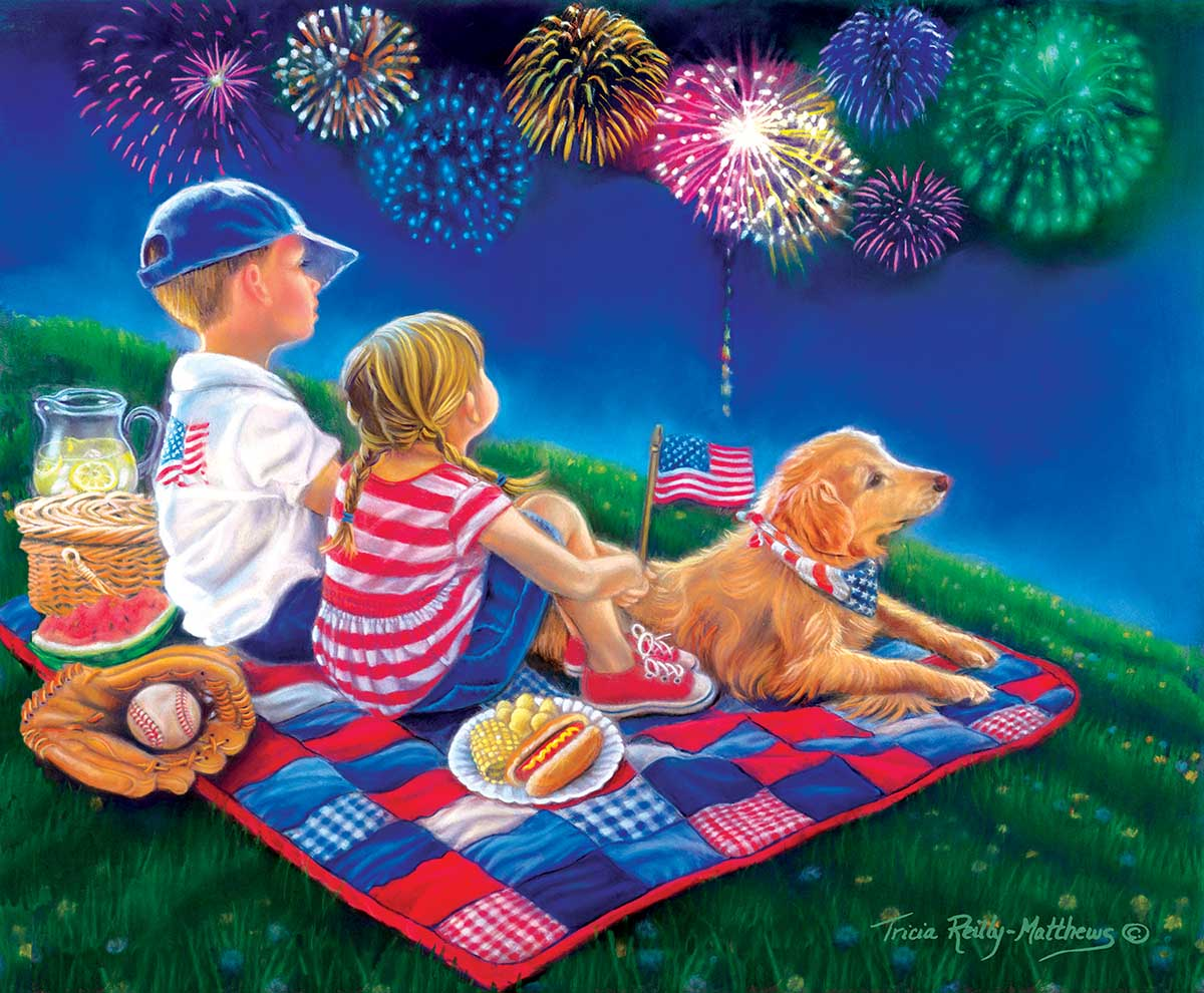 Fireworks Finale Fourth of July Jigsaw Puzzle