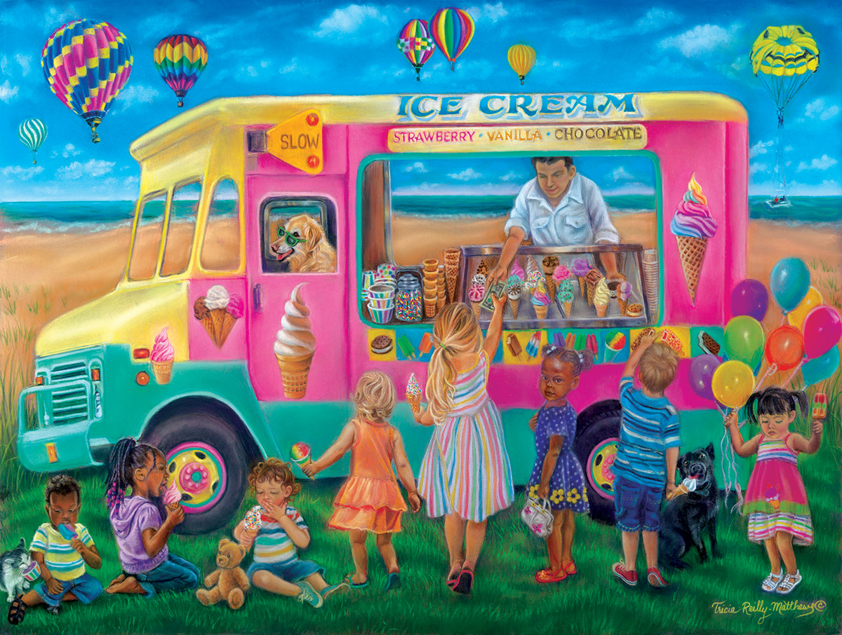 Everything Is Better With Ice Cream Food and Drink Jigsaw Puzzle