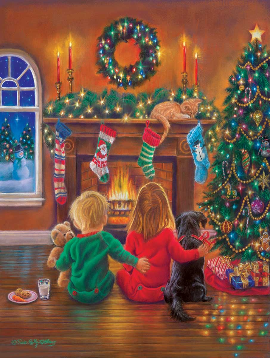Holiday Hugs Dogs Jigsaw Puzzle