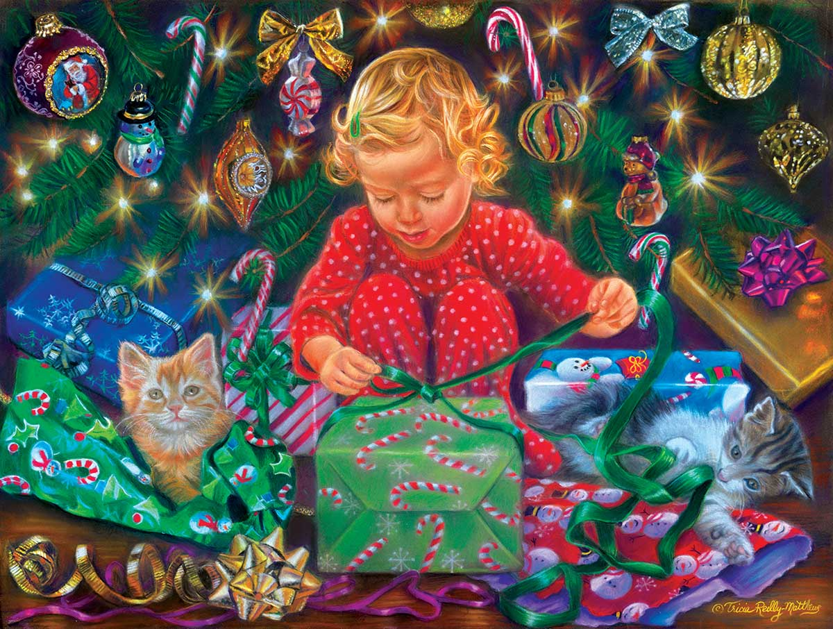 Wrapped with Love Cats Jigsaw Puzzle