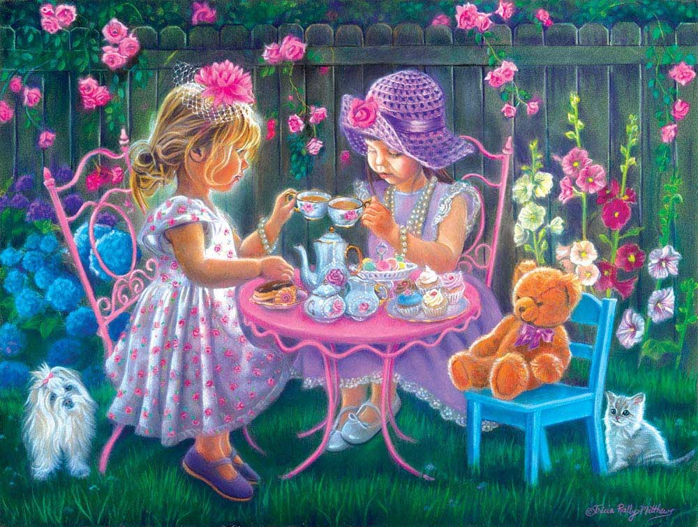 A Tea Party for Two Dogs Jigsaw Puzzle