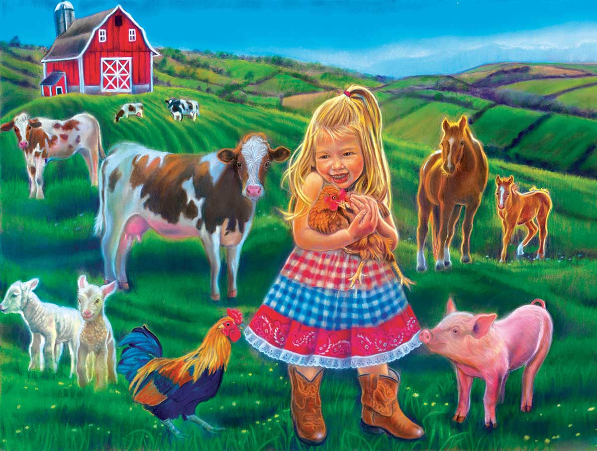 Fun on the Farm Farm Jigsaw Puzzle