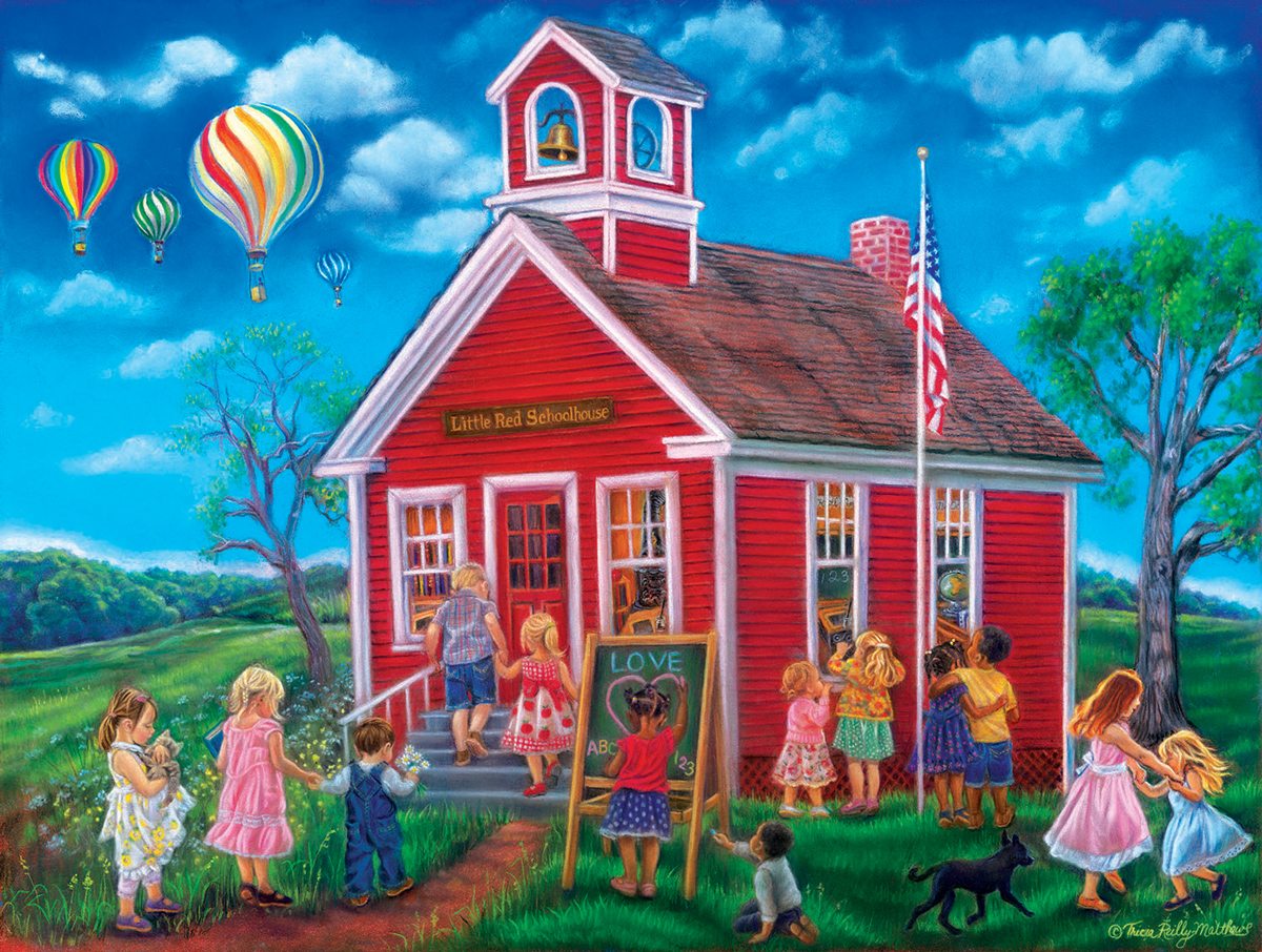 Time for School Domestic Scene Jigsaw Puzzle