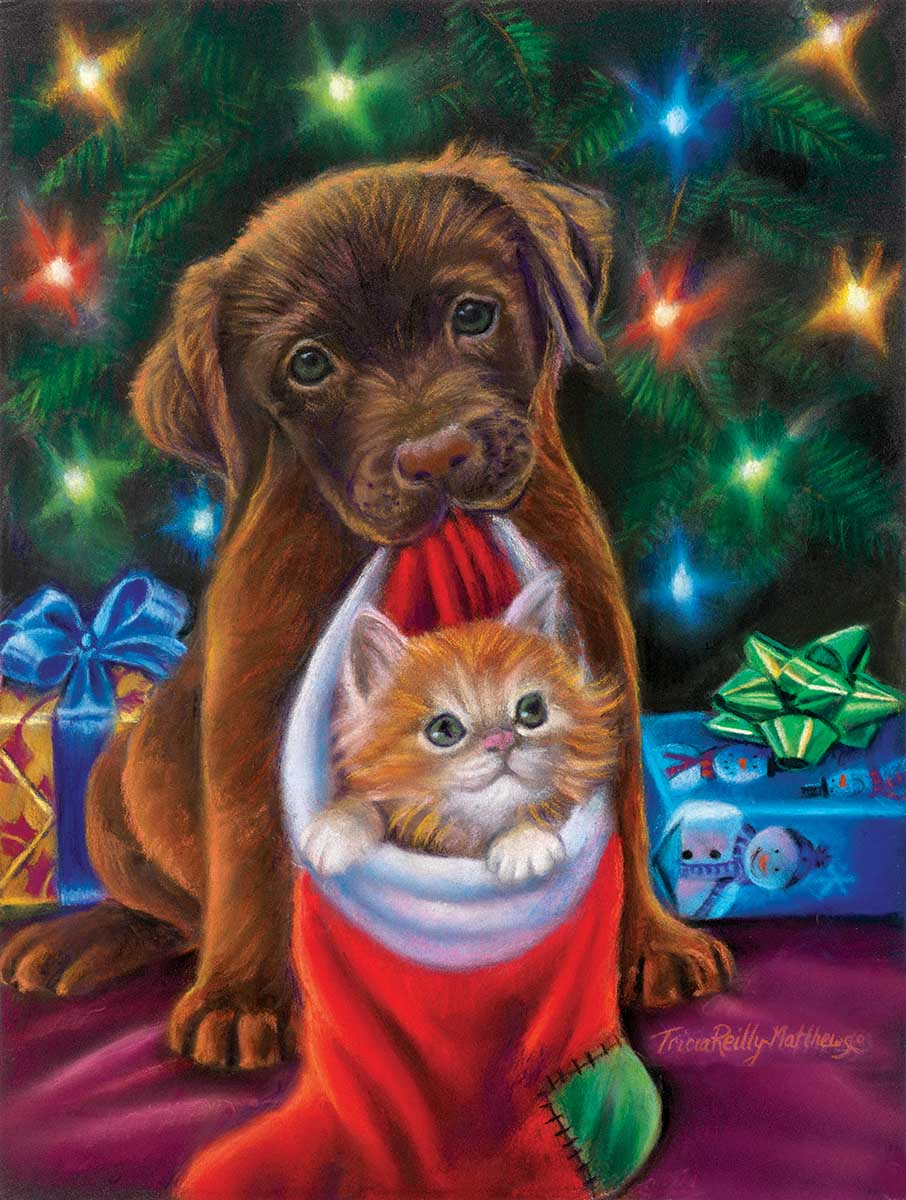 Holiday Joy Cats Jigsaw Puzzle