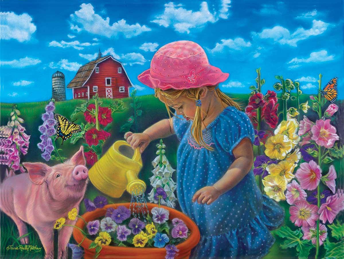 Watch Them Grow Farm Jigsaw Puzzle