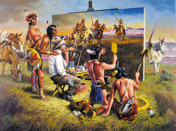 A Brush with the Past Native American Jigsaw Puzzle