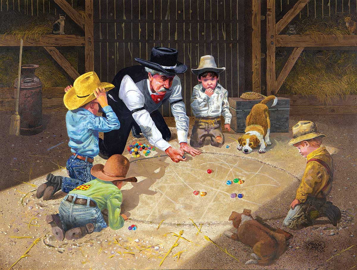 Only Game in Town Nostalgic / Retro Jigsaw Puzzle