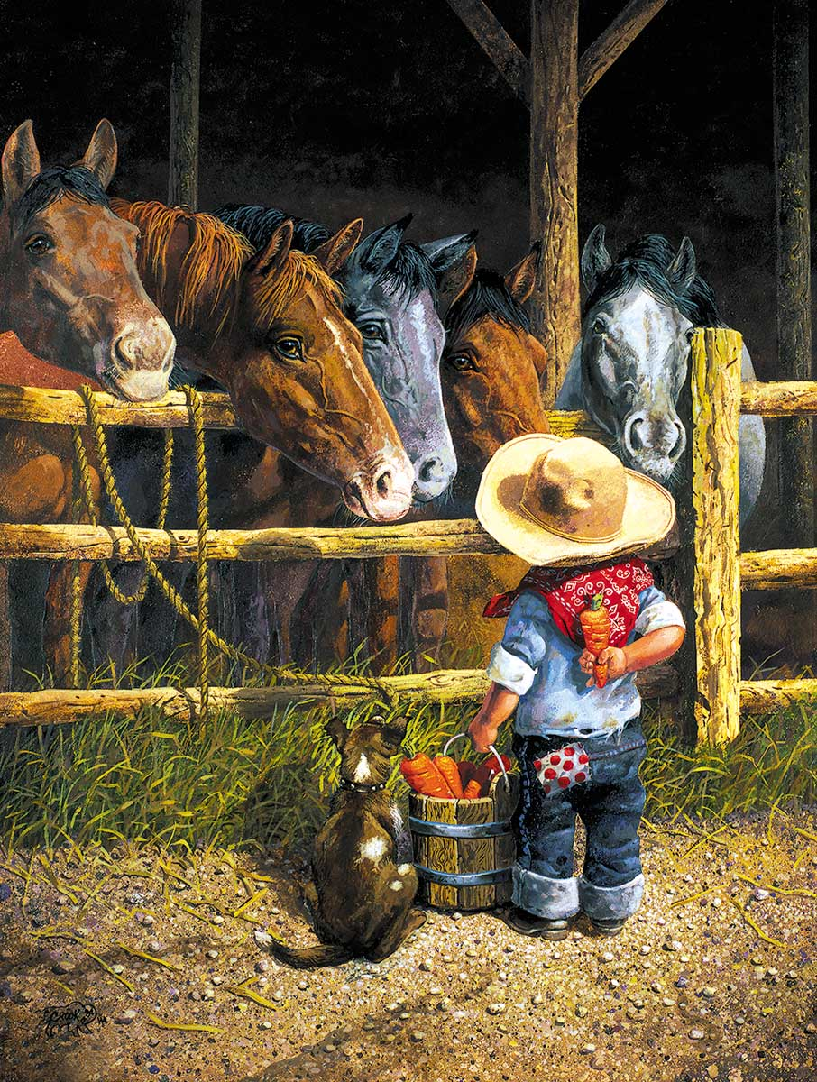 Friendly Persuasion Horses Jigsaw Puzzle