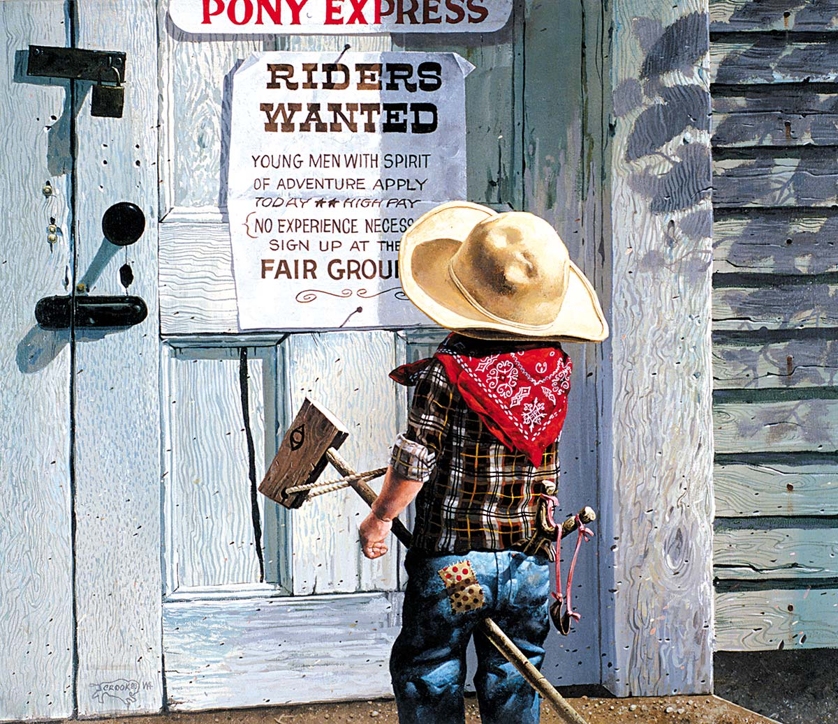 Riders Wanted Americana & Folk Art Jigsaw Puzzle