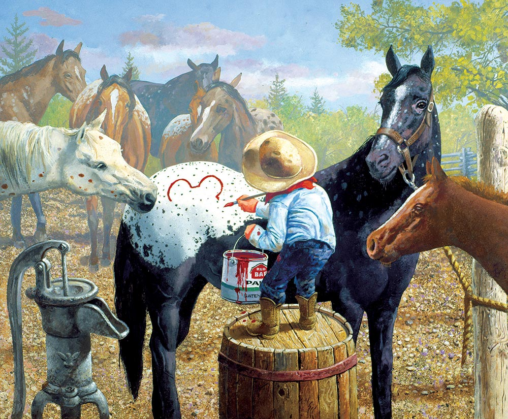 Connect the Dots Horses Jigsaw Puzzle