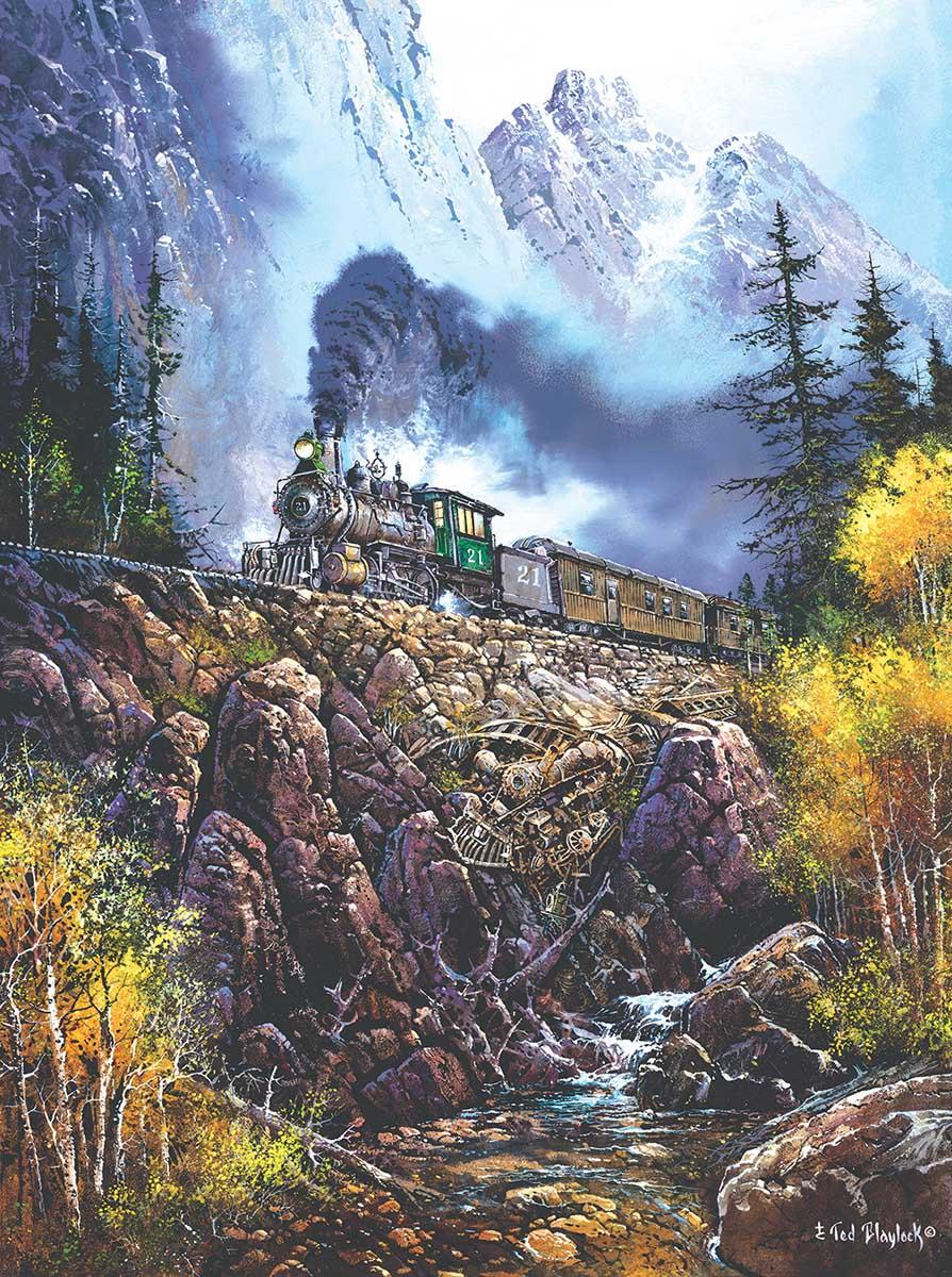 Hazardous Travel Trains Jigsaw Puzzle