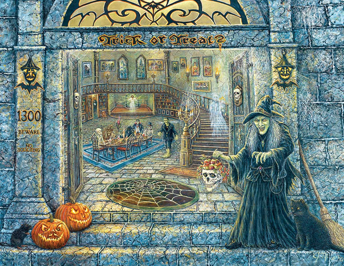 No Soliciting Halloween Jigsaw Puzzle