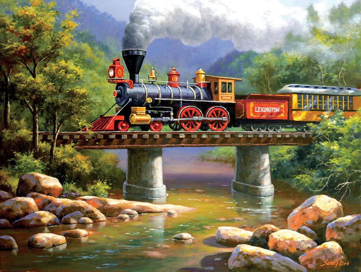 The Lexington Express Trains Jigsaw Puzzle
