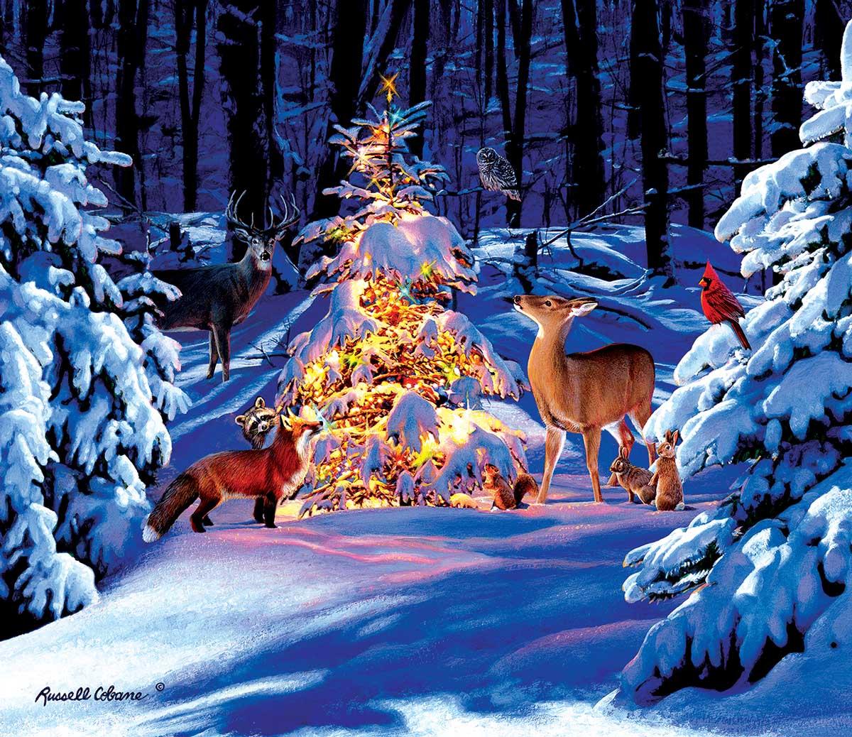 Woodland Glow Animals Jigsaw Puzzle
