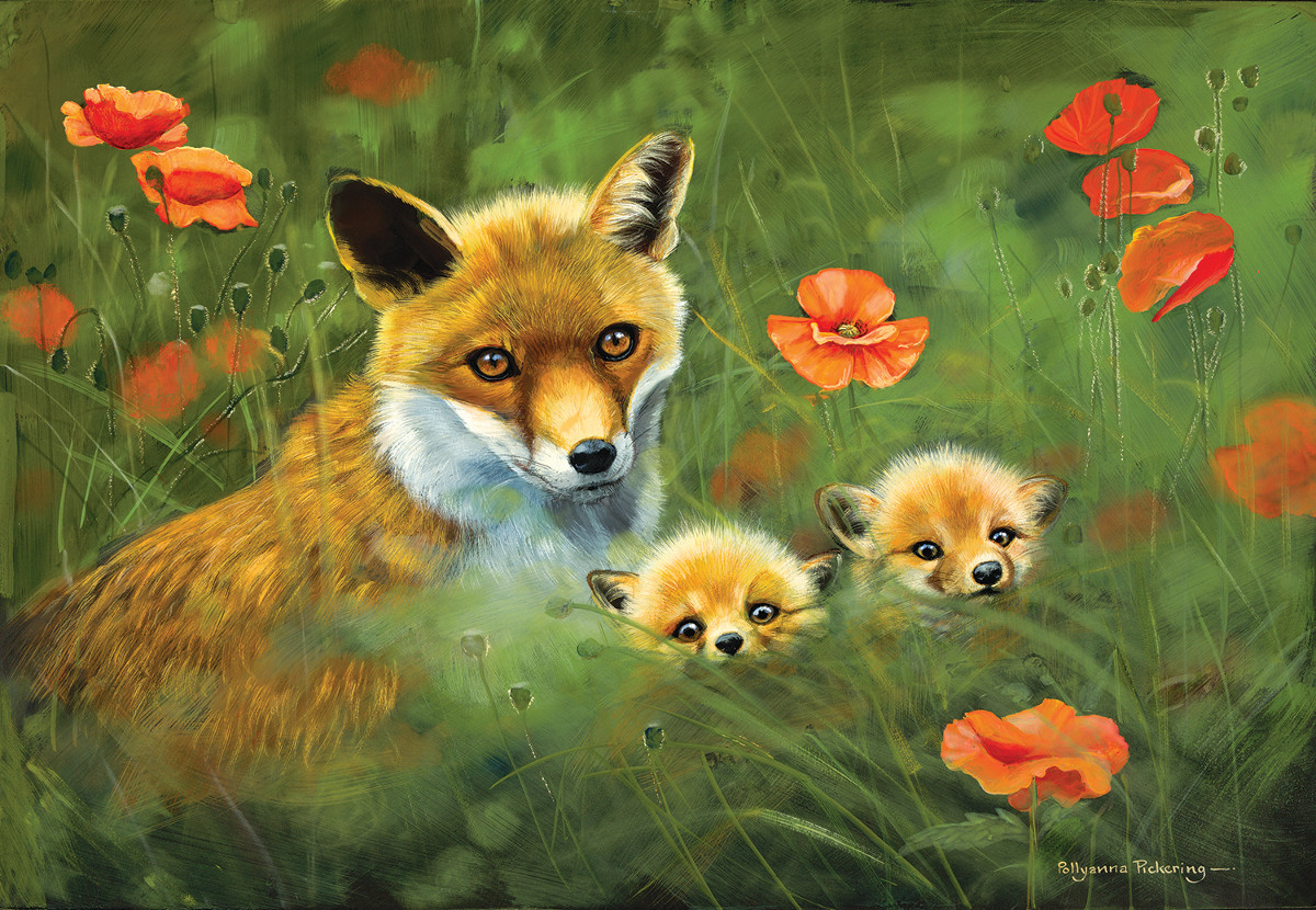Fox Cubs Jigsaw Puzzle Puzzlewarehouse Com