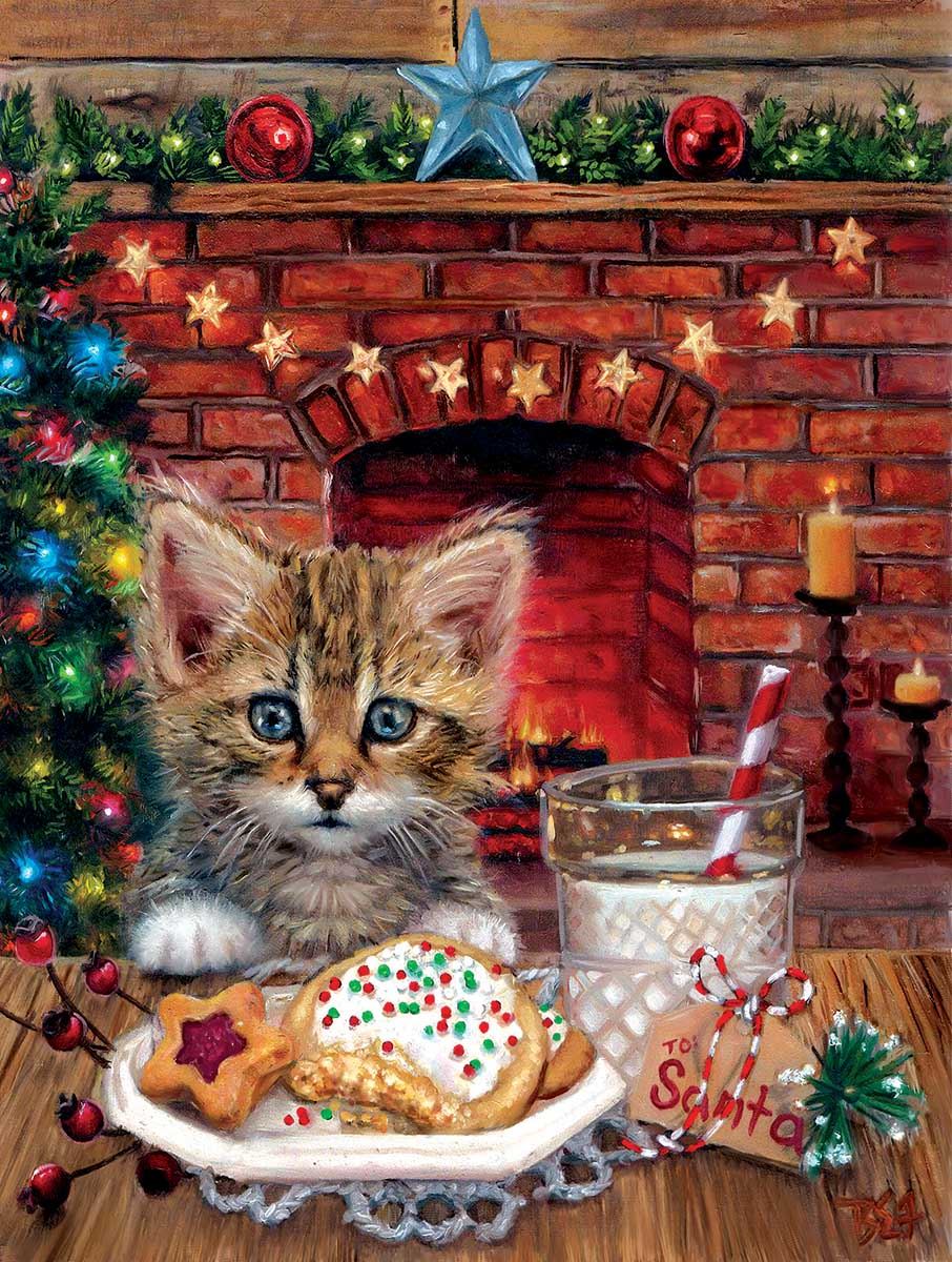 A Surprise for Santa Cats Jigsaw Puzzle