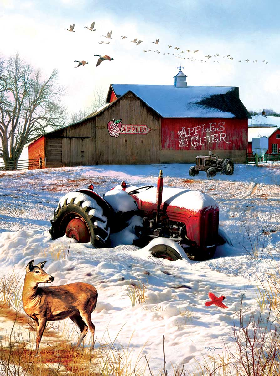 Tractor on the  Farm Farm Jigsaw Puzzle