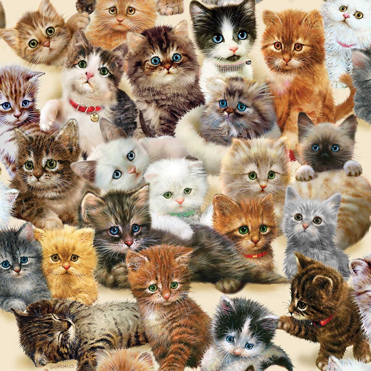 Kittens for the Taking Cats Jigsaw Puzzle