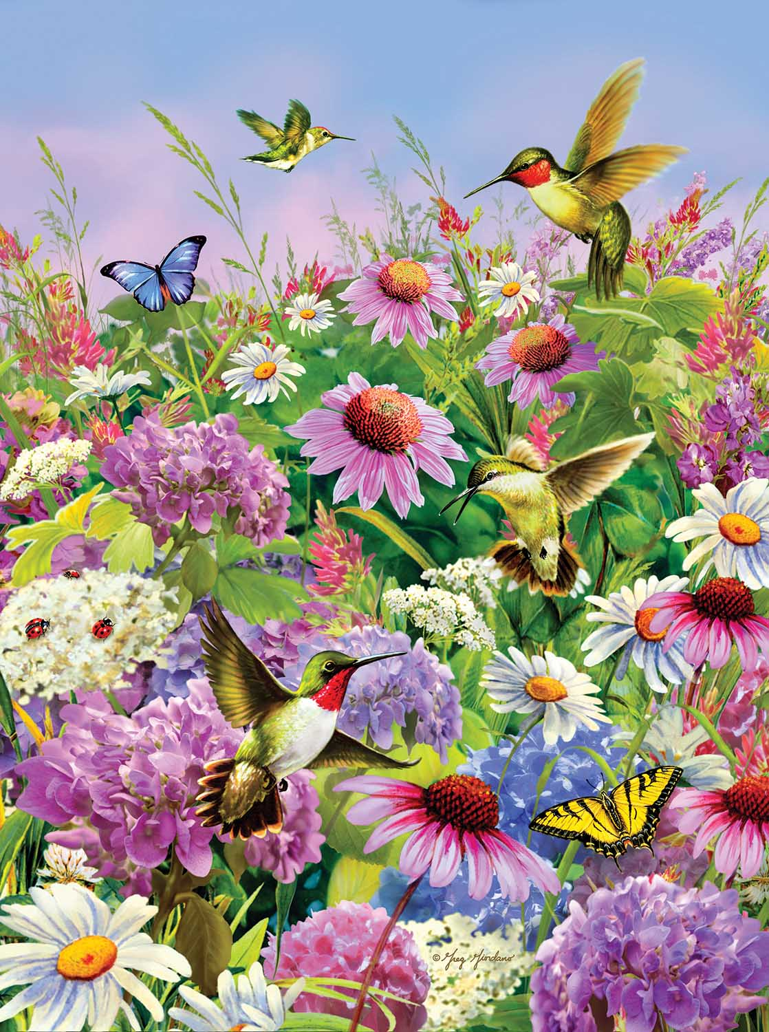 Garden Flight Birds Jigsaw Puzzle