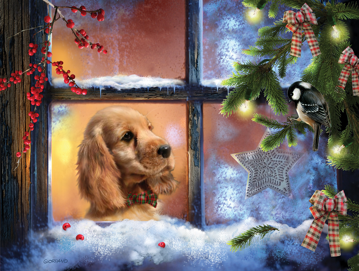 Window Seat Dogs Jigsaw Puzzle