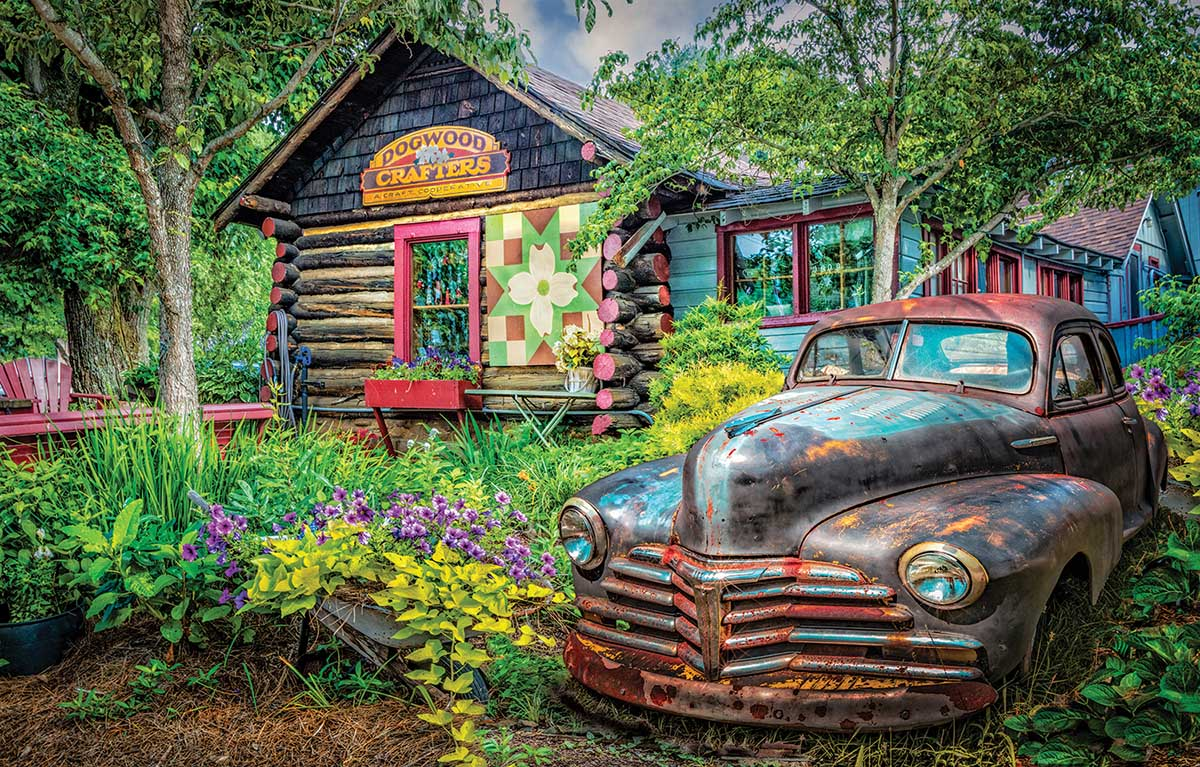 Part of the Garden Cars Jigsaw Puzzle