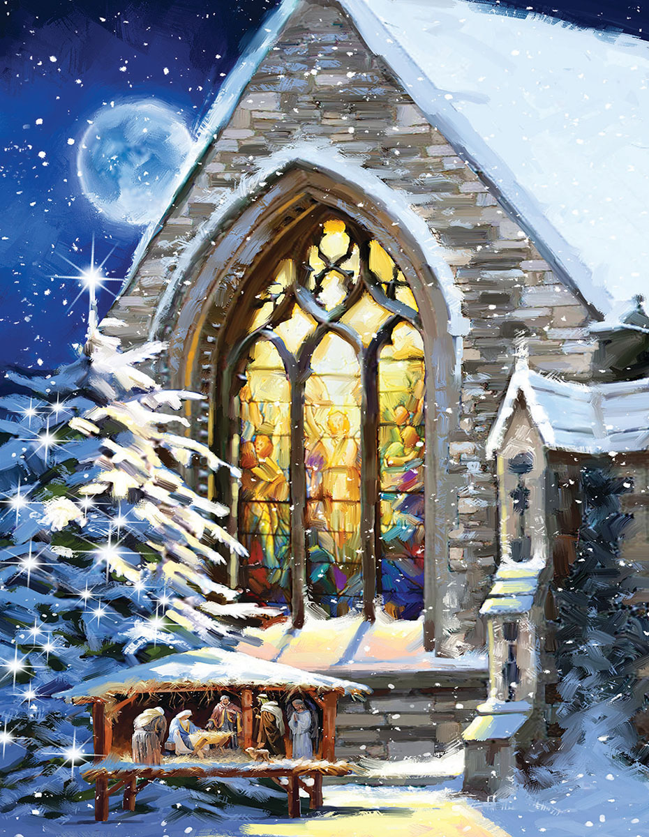 Christmas Manger - Scratch and Dent Religious Jigsaw Puzzle
