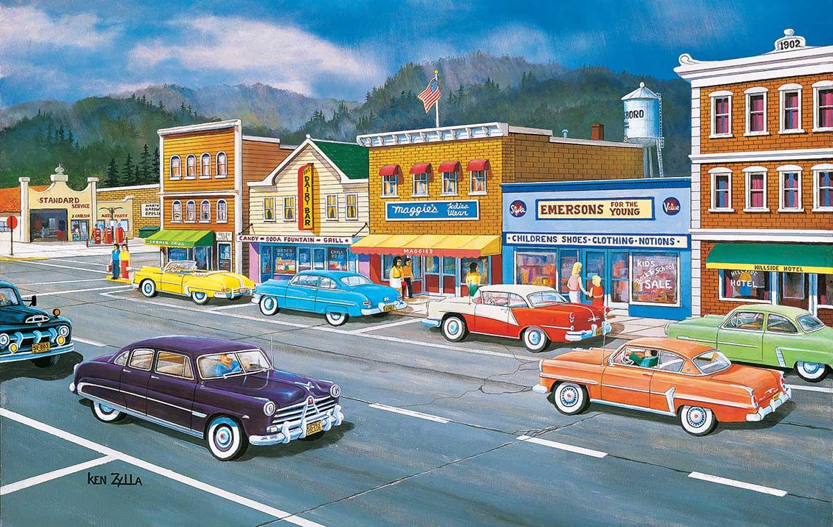 Main Street of Memories Nostalgic / Retro Jigsaw Puzzle