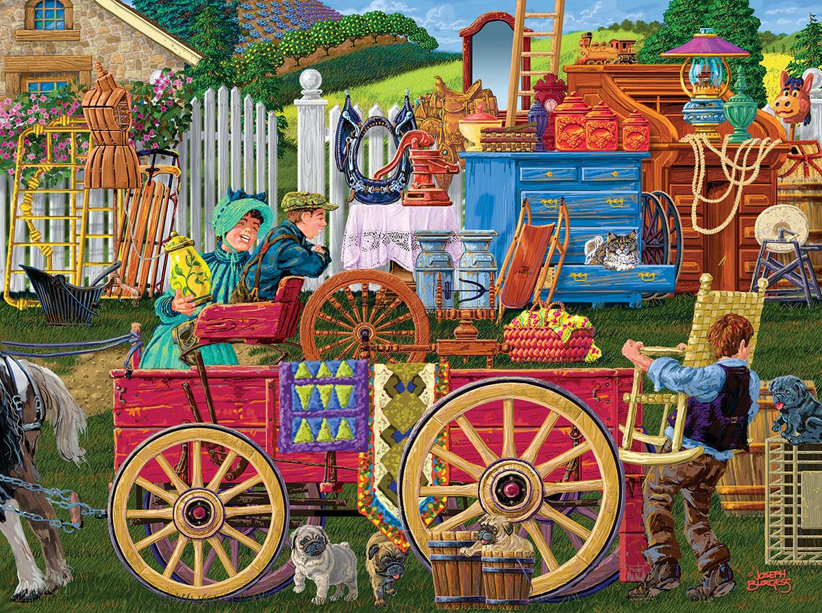 Vintage Yard Sale Nostalgic / Retro Jigsaw Puzzle