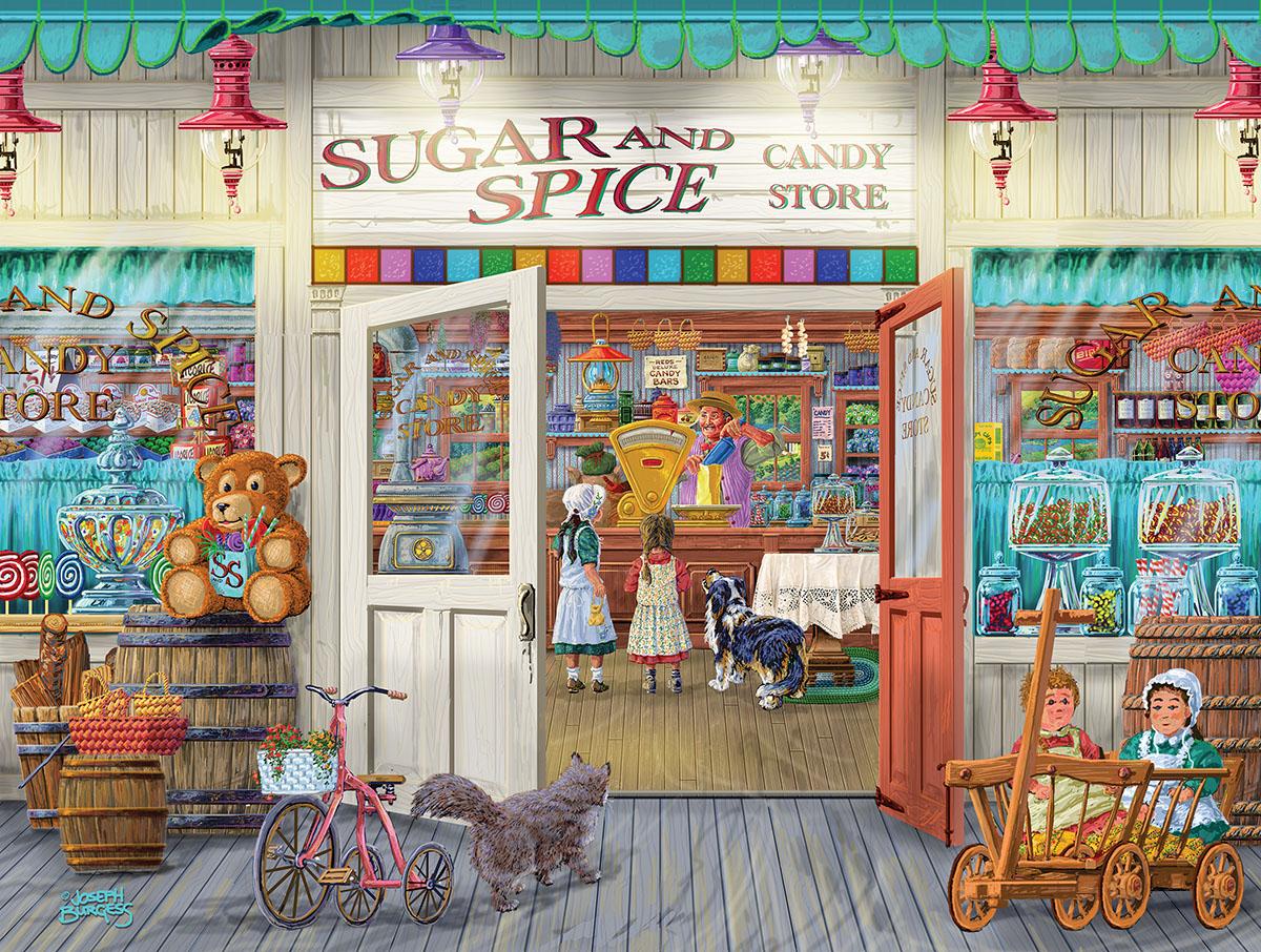 Sugar and Spice Nostalgic / Retro Jigsaw Puzzle