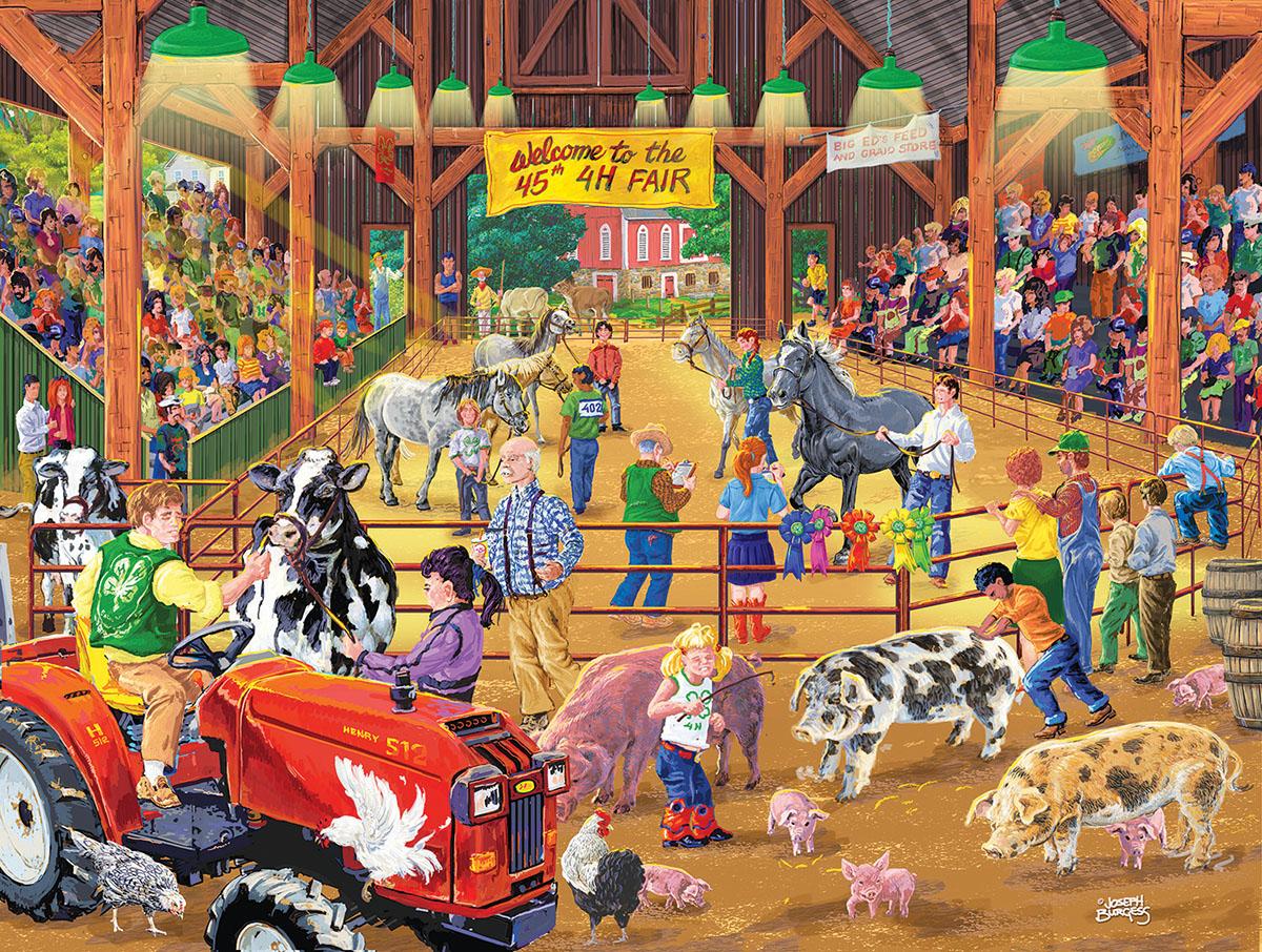 4 H Fair Farm Jigsaw Puzzle