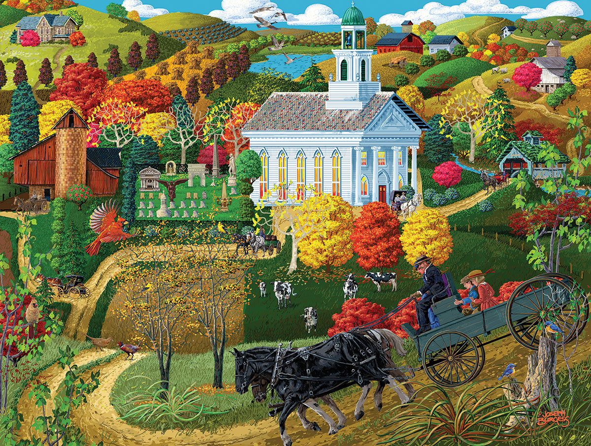 A Country Church Countryside Jigsaw Puzzle