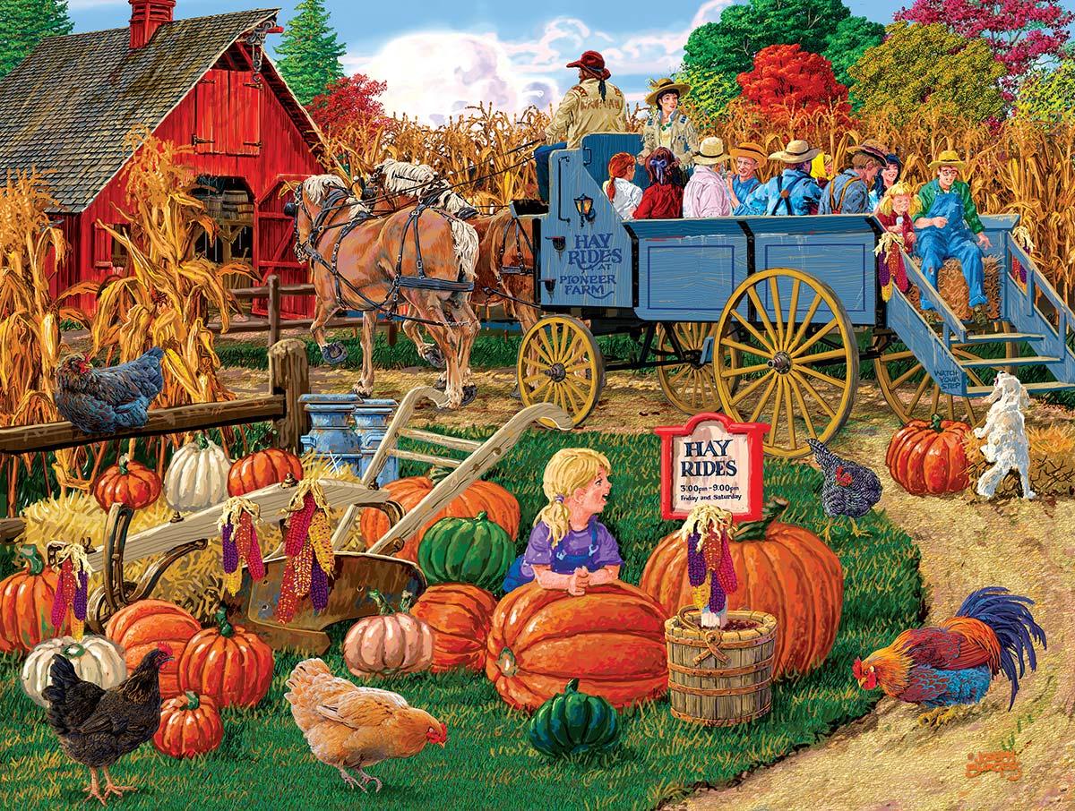 Come On, Boy Hayride Farm Jigsaw Puzzle