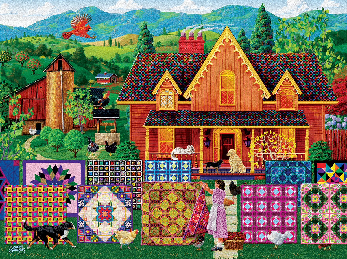 Morning Day Quilt Crafts & Textile Arts Jigsaw Puzzle