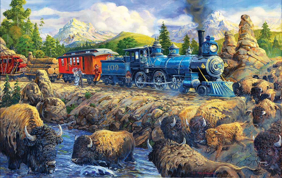 Delaying the Iron Horse - Scratch and Dent Mountains Jigsaw Puzzle