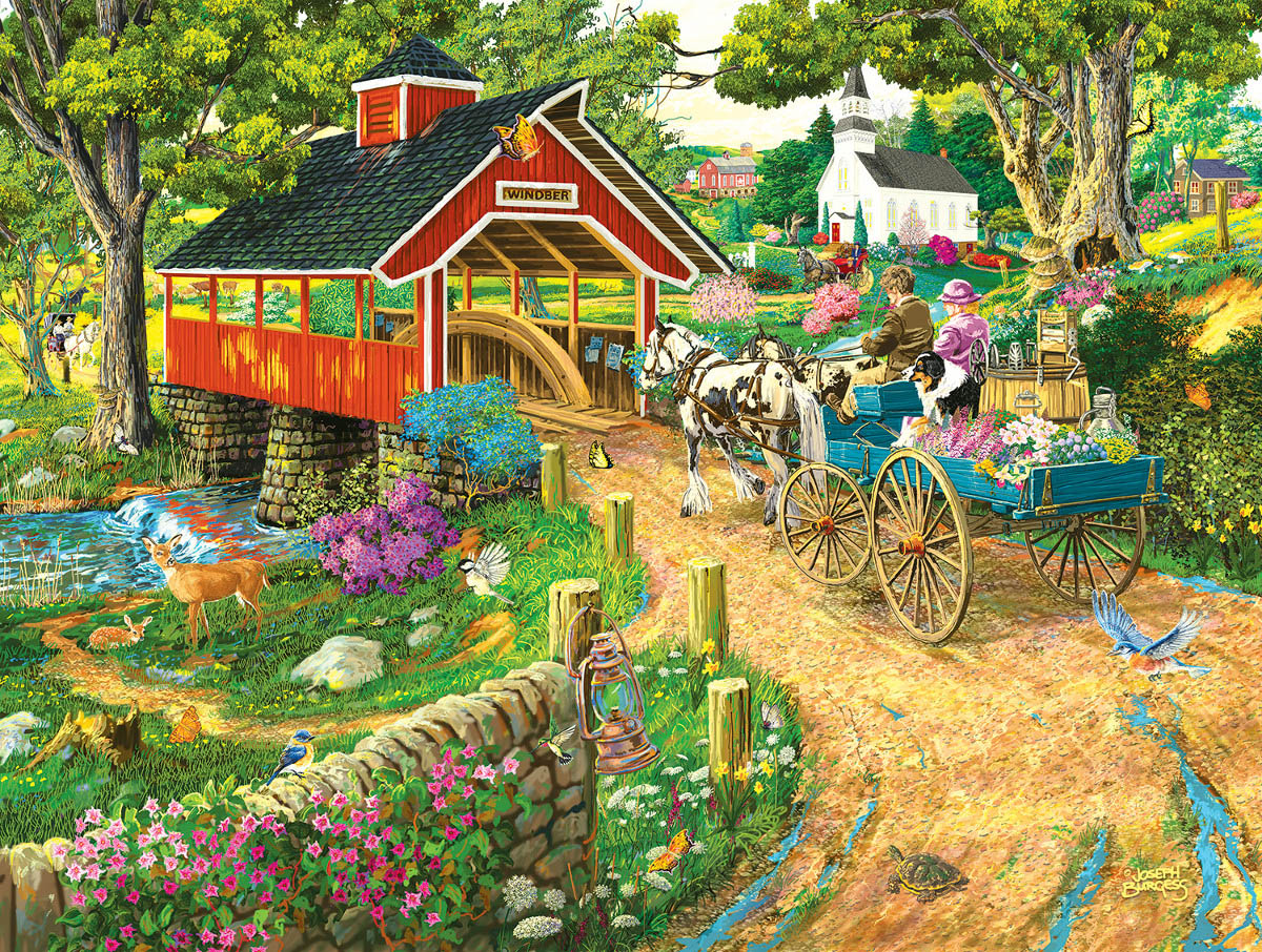 Home at the End of the Day Countryside Jigsaw Puzzle
