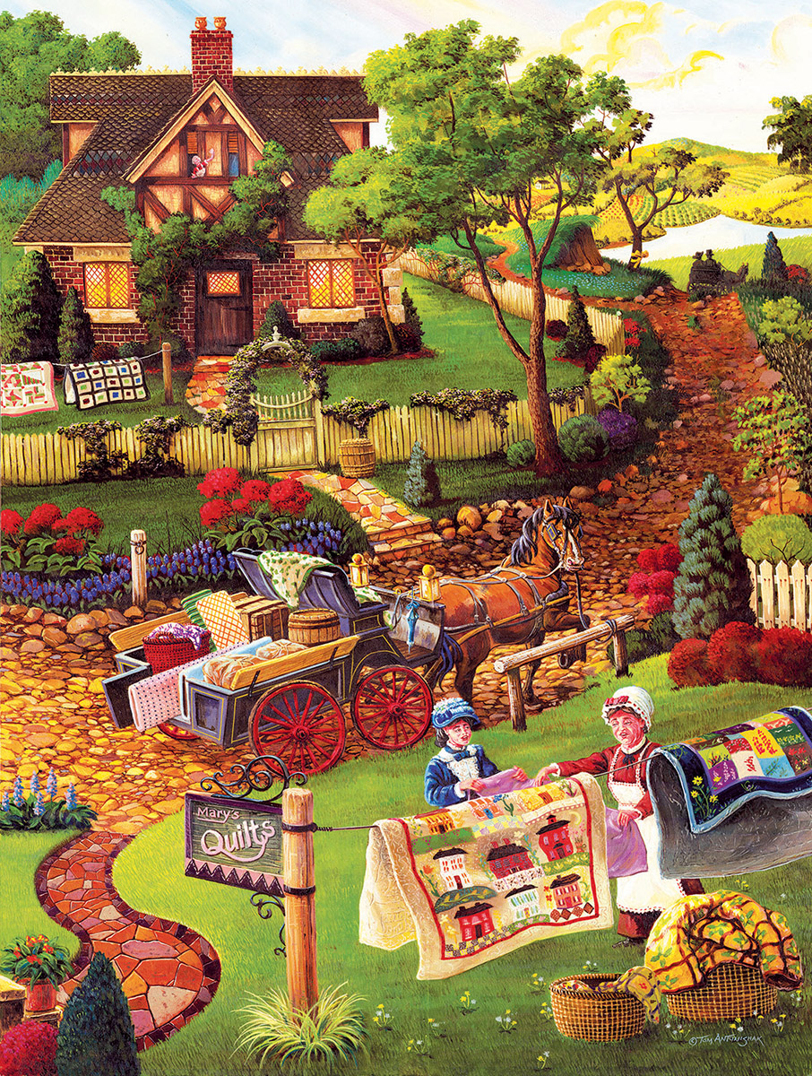 Mary's Quilt Garden Crafts & Textile Arts Jigsaw Puzzle