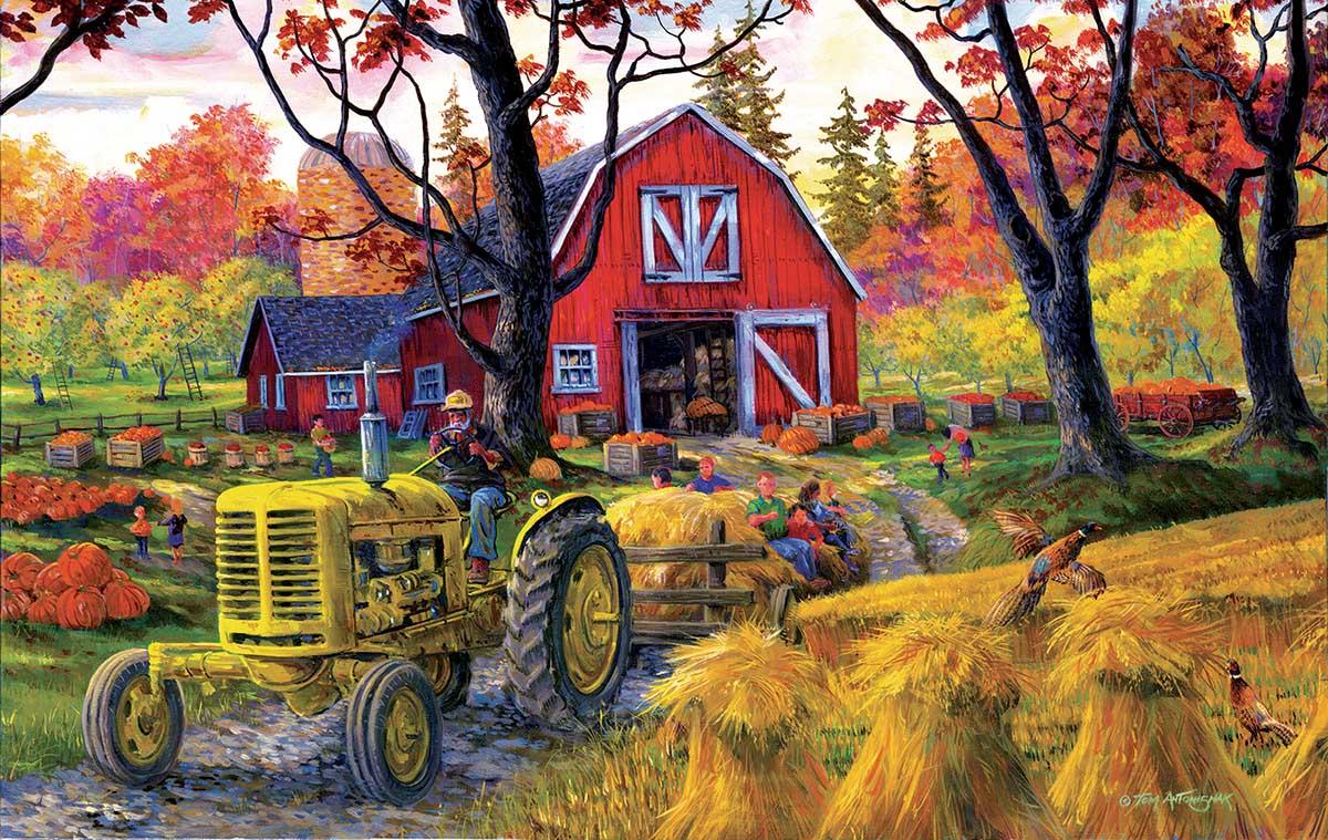 Farm Fall Festival Farm Jigsaw Puzzle