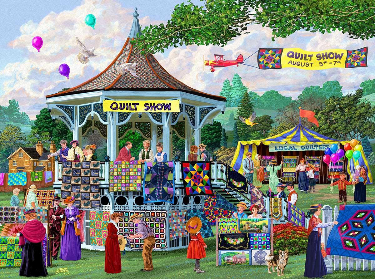 Summer Quilt Show Crafts & Textile Arts Jigsaw Puzzle
