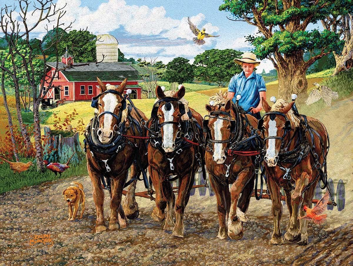 Amish Farm Farm Jigsaw Puzzle
