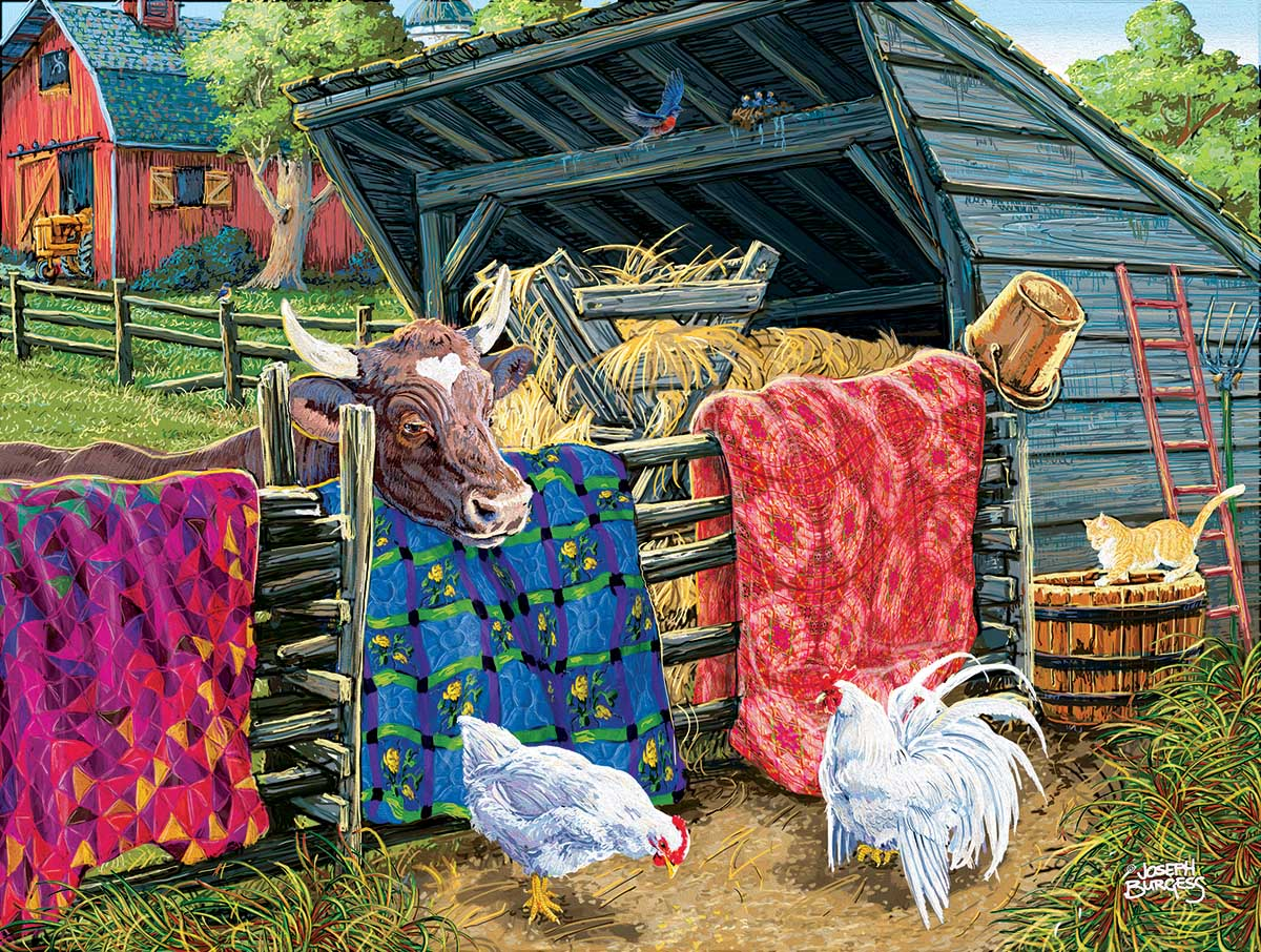 Quilt Cow Farm Jigsaw Puzzle