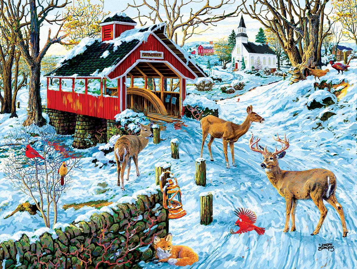 End of Day Crossing Animals Jigsaw Puzzle
