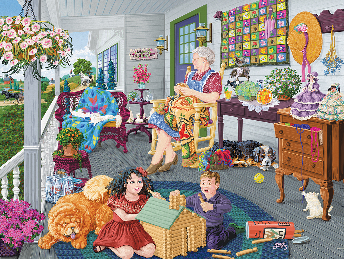 A Visit to Grandma's People Jigsaw Puzzle